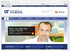New UF web page template