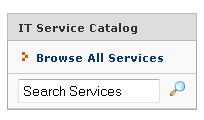 Service Catalog Box from UFIT Homepage
