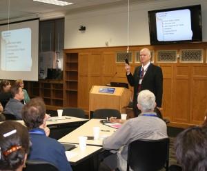 Prof. Fedro Zazueta giving presentation