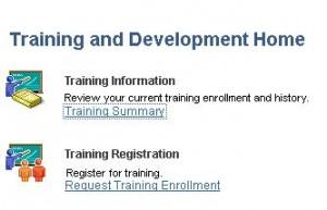 Training login link in myUFL
