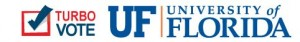 Turbo Vote logo + UF logo