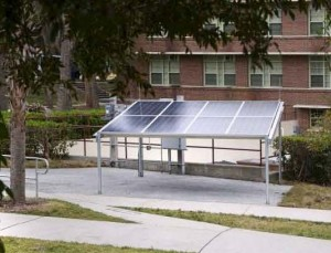 Solar Array Panels Outside Rinker Hall