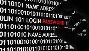 Screen shot of computer code being stolen