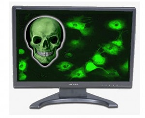PC Monitor w/Danger Skull