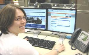 Supervisor at her desk