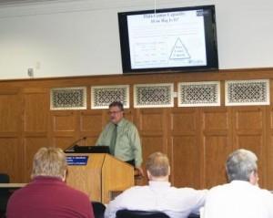 David Burdette presenting at Spring P2P