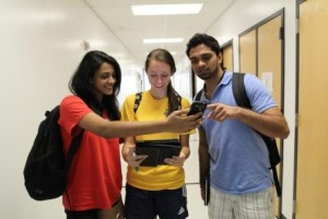 Students using a variety of mobile devices