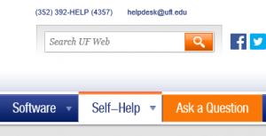Self-Help Link on Help Desk Website