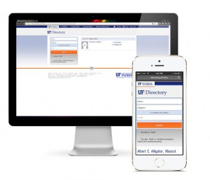 New View of UF Directory on Desktop, Mobile Device