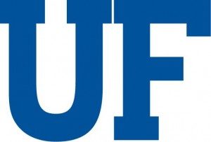UF in Block Lettering