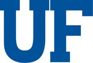 UF in Block Lettering