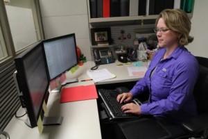 UF employee using computer
