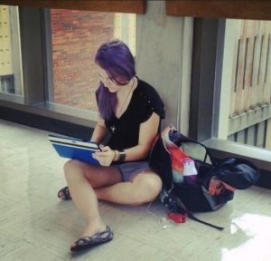 Student on tablet