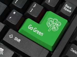 """""""Go Green"""" Message on Keyboard"""