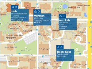 Location map for IT support at UF