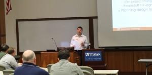 UFIT's Brandon Vega presenting at P2P
