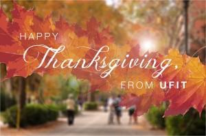 A fall foliage scene on the UF campus