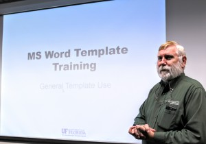 ASC Training on MS Word Template