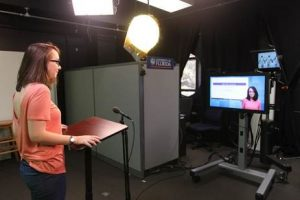 Scene of presentation filming in the CITT Production Studio