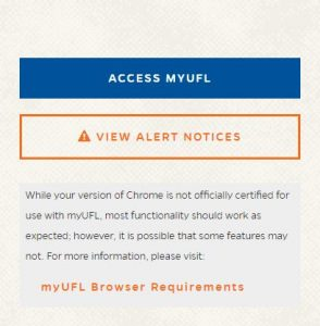 Image snip of new myUFL Splashpage (goes live Nov. 18)