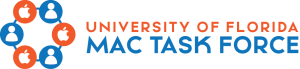 Visual identifier (Wordmark) for UF's Mac Task Force workgroup