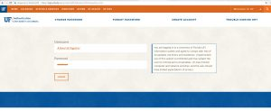 Screen capture: New GatorLink credentials login page that went live Sunday, Nov. 6