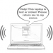 "Graphic: A laptop ""talking"" after the theft alarm has been activated via FrontDoorSoftware"