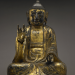PHOTO: Gilt Wood Seated Bodhisattva Joseon Dynasty (1392-1910), 17th Century wood with gilt, plus original sutra pages found within body cavity of sculpture; Samuel P. Harn Museum of Art Museum Purchase, Gift of Michael and Donna Singer; 2008.20