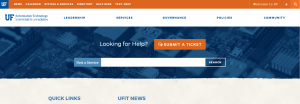 SCREENSHOT: New UFIT homepage that went live on April 11, 2017.