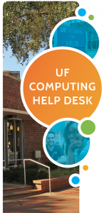 GRAPHIC: Main design component of the 2017 UF Computing Help Desk Flyer