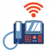 GRAPHIC: UF desk phone with Wi-Fi symbol above it.