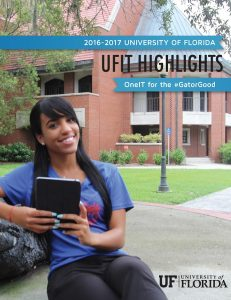 COVER IMAGE: Cover image of the 2016-2017 UFIT Contributions Report Tri-Fold Publication