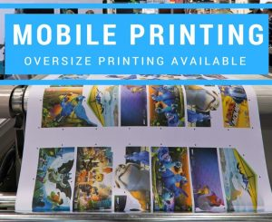 GRAPHIC IMAGE: Mobile and Oversize Printing on Campus.