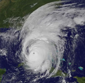 SATELLITE IMAGE: Hurricane Irma covering the state of Florida on September 11, 2017.