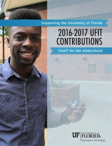 COVER IMAGE of the 2016-2017 UFIT Contributions Report