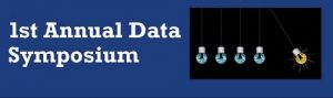 """GRAPHIC: Header image for the Smathers Libraries """"!st Annual Data Symposium""""."""