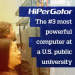 GRAPHIC: HiPerGator image with current ranking information, created for use in InsideHigherEd.com.