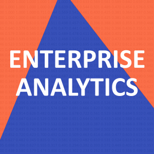 "GRAPHIC: Visual with text that says ""ENTERPRISE ANALYTICS"""