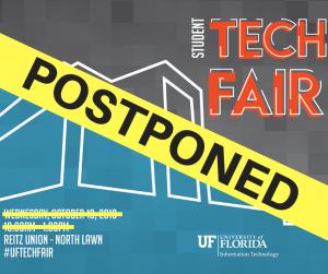 Tech Fair is postponed graphic