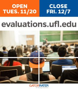 IMAGE WITH GRAPHICS: Fall 2018 GATOR RATER evaluations