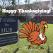 PHOTO/GRAPHIC: 2018 Happy Thanksgiving! Image of Hub Sign with Animated Turkey.