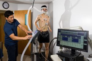 PHOTO: HHP Exercise testing lab used to study aerobic fitness and maximal exercise tolerance