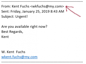 Fake email from President Fuchs