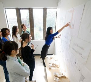 PHOTO: Activity in Architecture Classroom Provided by University Relations