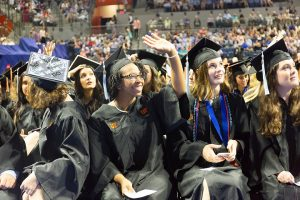 PHOTO: Spring 2018 Commencement. Copyright University of Florida / Brianne Lehan