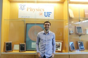 PHOTO: Maks Prokopenko photographed inside Physics Building