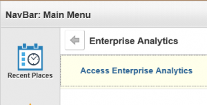 GRAPHIC: Screenshot of Enterprise Analytics Menu in myUFL