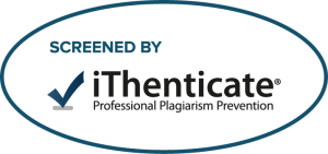 "GRAPHIC: Oval version of ""Screened by iThenticate"" Logo"