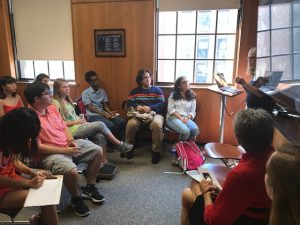 PHOTO: UF Humanities Engagement Scholars listen to a lecture