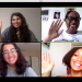 PHOTO: Screen Capture of Four Students in a Zoom Call